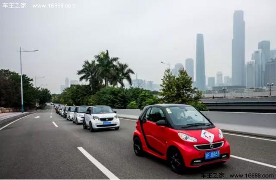 奔驰200辆smart集体出动 可以吸引多少眼球