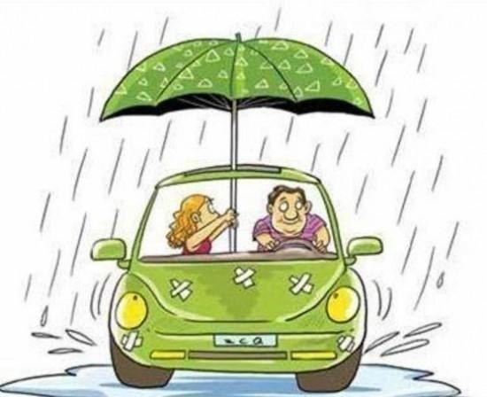 温馨提示:暴雨天气 出行注意行车安全图片